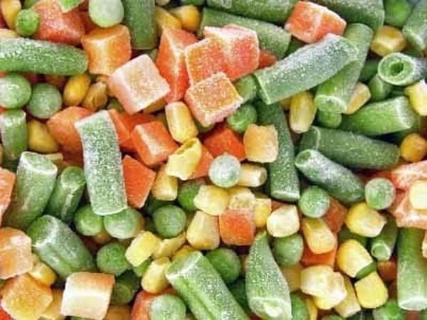 разные замороженные овощи