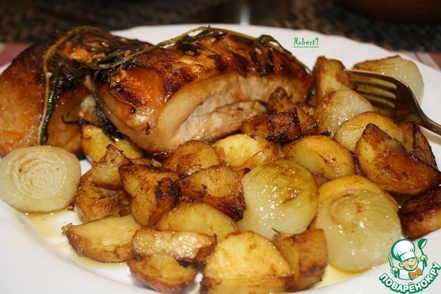 Свинина с картофелем «Мужской каприз»