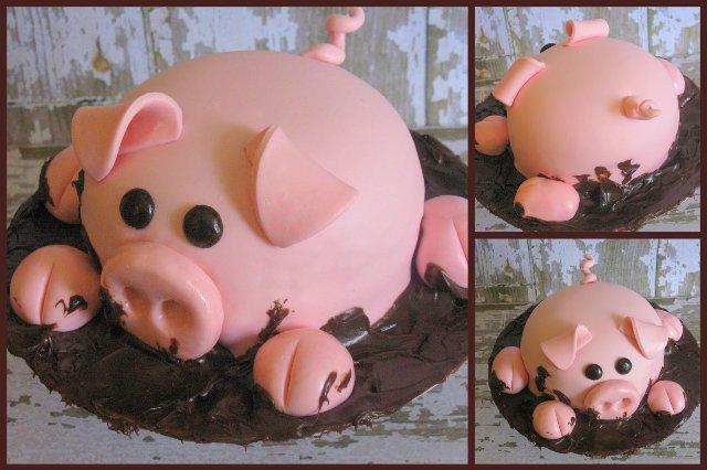 Выпечка в виде свиньи