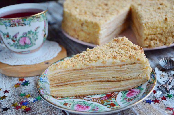 Торт «Наполеон» классический из домашнего теста