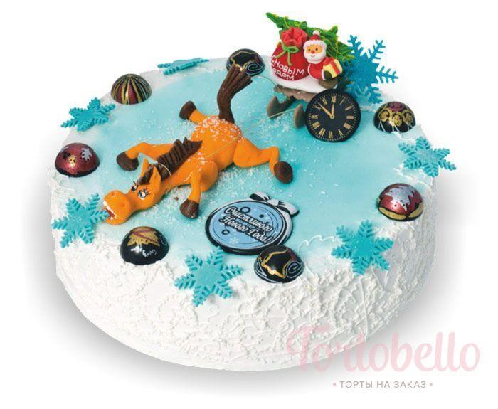 Творожный торт «Новогодний этюд»
