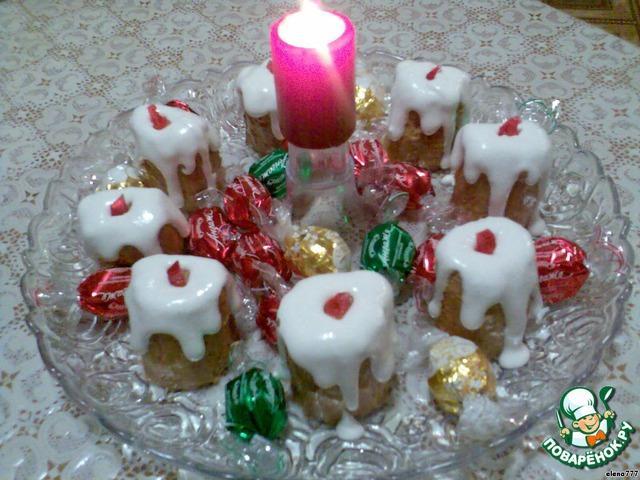 Пирожные «Новогодние свечи»