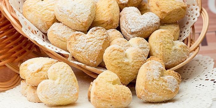 Сахарное печенье со сметаной