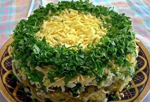 Салат с грибами для новогоднего стола