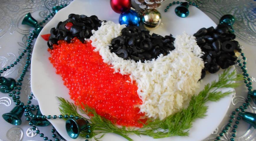 Снегирь салат