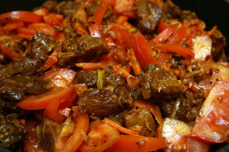 Баранина с томатом