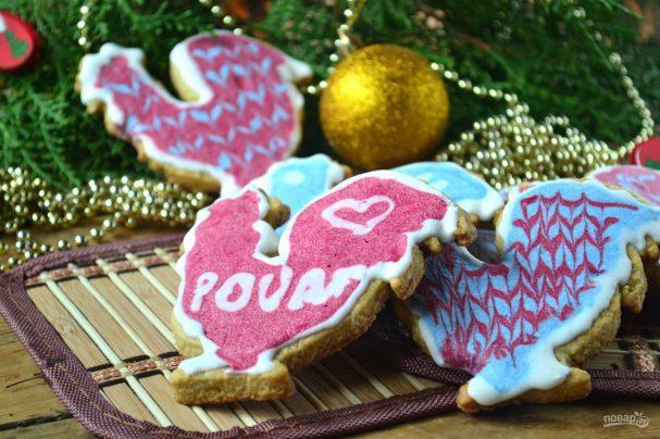 Новогоднее печенье «Петушки»