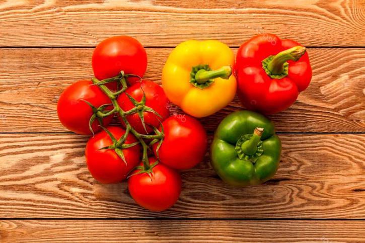 томат и перец