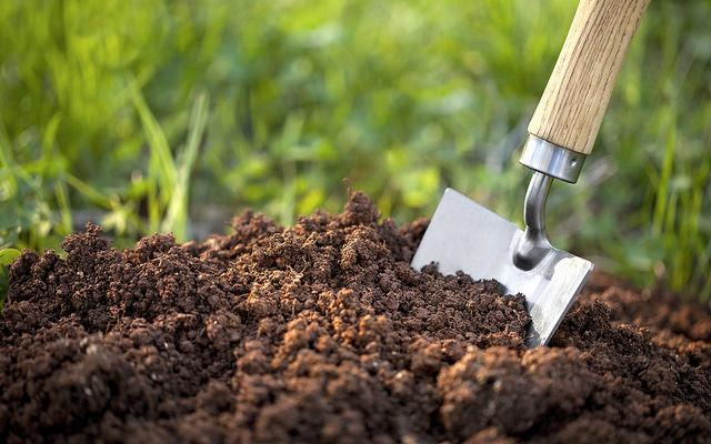 почва и лопата