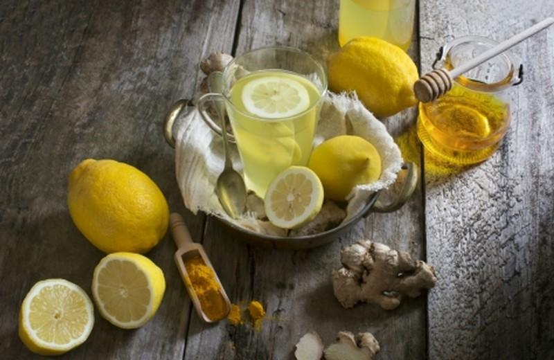 черный имбирь и лимон