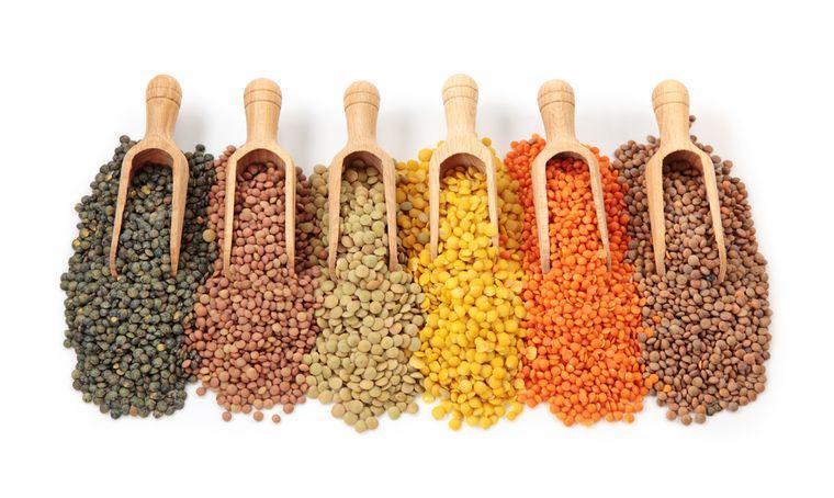 разноцветная чечевица