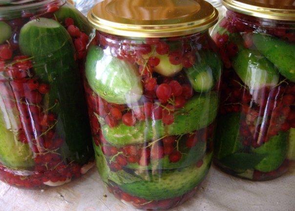 огурцы с ягодами