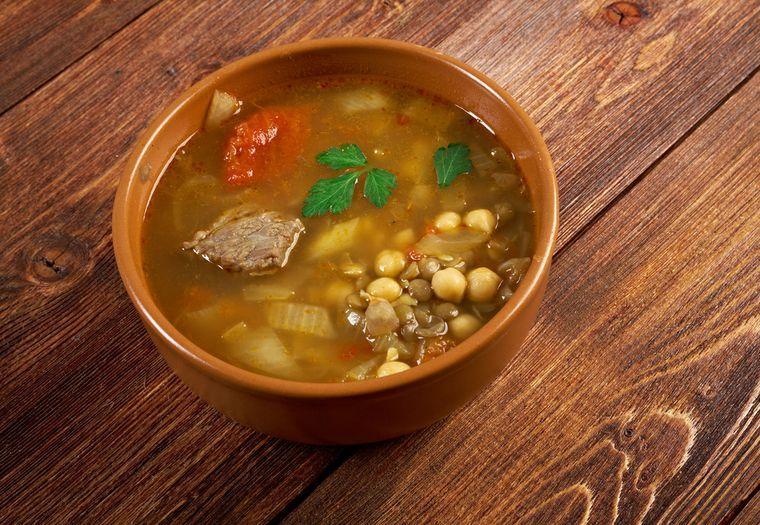 суп с чечевица