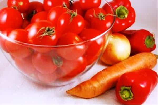помидоры с огорода
