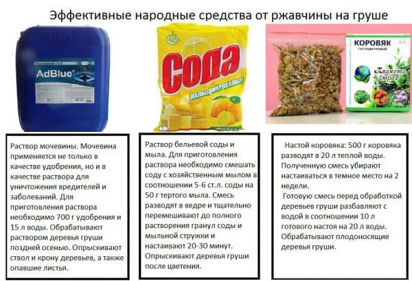 народные средства от болезни груш