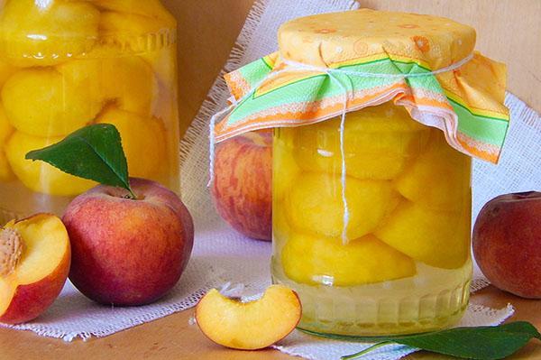 консервация персика