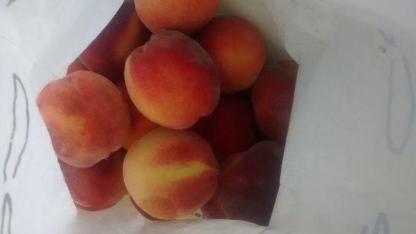 персики в холодильнике