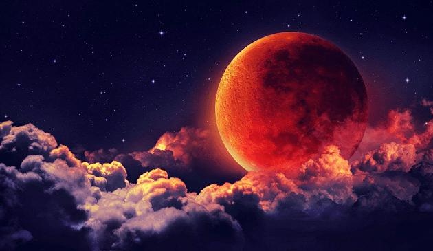 луна светит