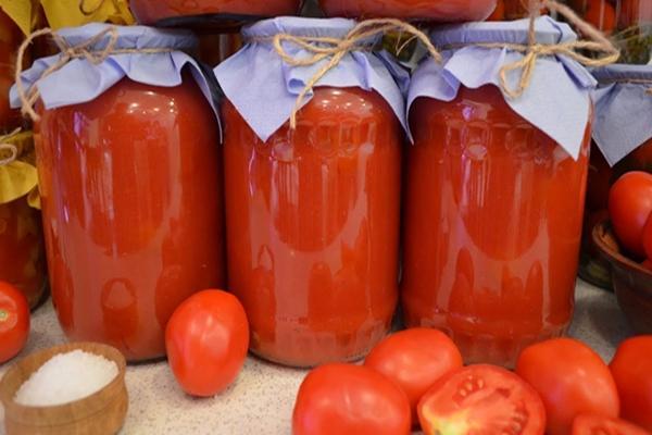 Помидоры в томатном соке рецепт на зиму самый вкусный