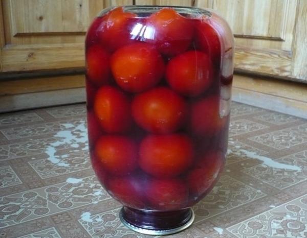 Оригинальный рецепт томатов в красном вине