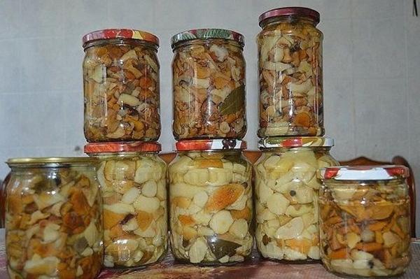 Маринованные грибы в собственном соку
