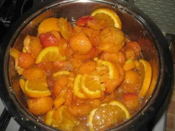 абрикосы с апельсинами