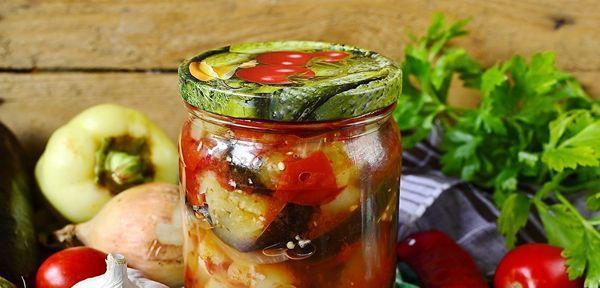Томатно-баклажанный салат