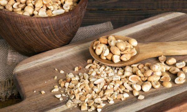 нарезанные орехи