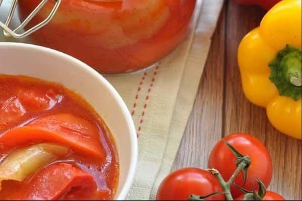 Лечо с помидорами и перцем