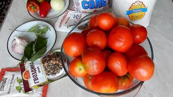 помидоры с гвоздикой