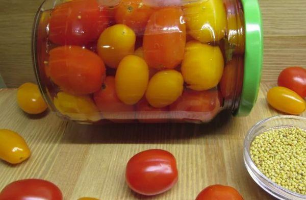 помидоры и горчица