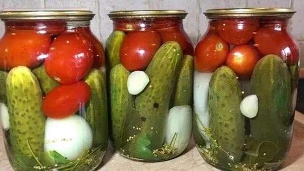 овощи с луком