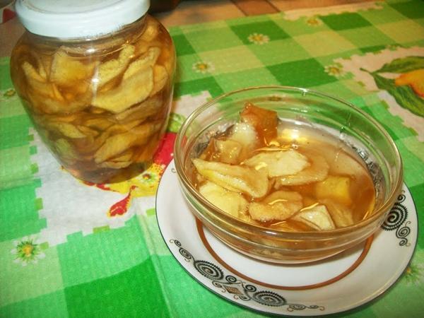варенье из яблок белый налив дольками прозрачное