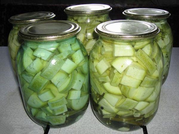 кабачки с чесноком на зиму
