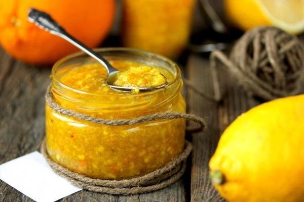 сырое варенье из апельсина