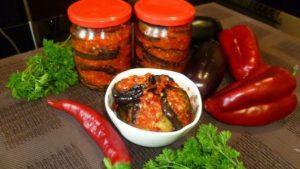 11 лучших рецептов приготовления баклажанов с перцем на зиму