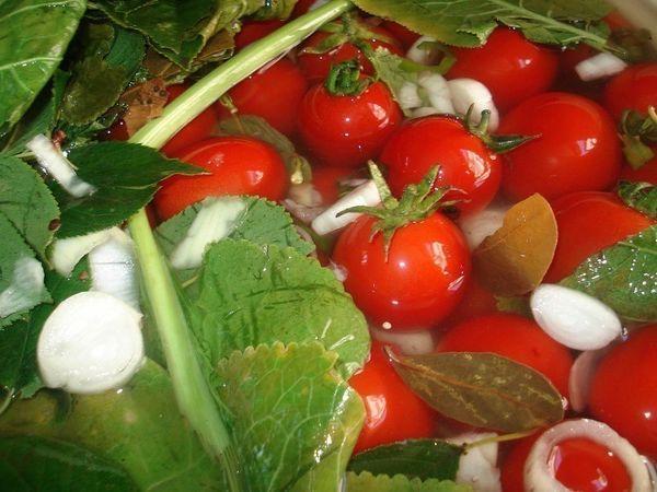 Слабосоленые помидоры