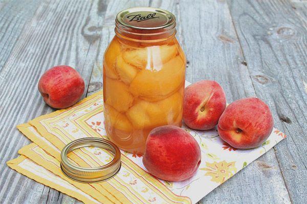 заготовка из персиков