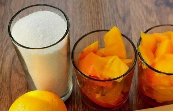 апельсины и хурма