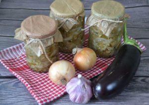 4 лучших рецепта приготовления баклажанов с луком на зиму