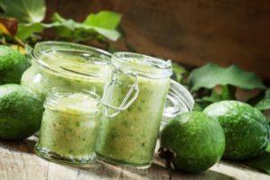 8 лучших рецептов приготовления протертого с сахаром фейхоа на зиму