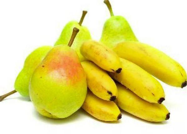 бананы с грушами