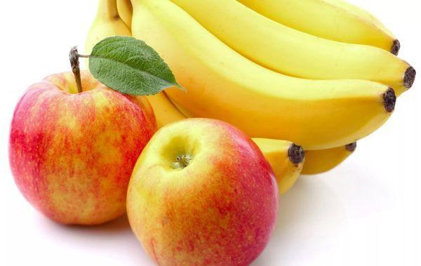 бананы с яблоками