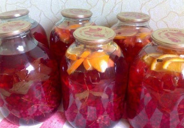 ягодно-цитрусовый компот