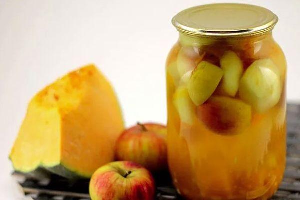 тыква с яблоком
