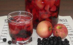 8 вкусных рецептов приготовления компота из яблок и черноплодной рябины на зиму