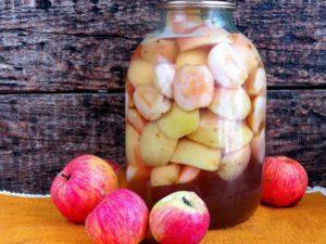 4 лучших рецепта приготовления компота из яблок с корицей на зиму