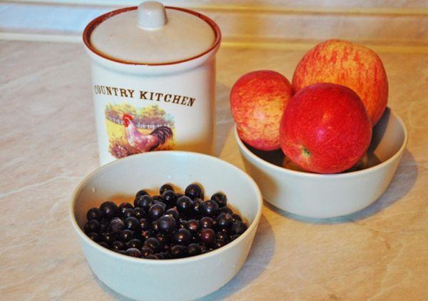 яблоки и смородина