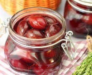 5 лучших рецептов маринованной закусочной сливы, как маслины на зиму