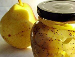 ТОП 2 рецепта приготовления варенья из груш с маком на зиму